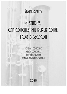 4 Studies on solo repertoire for bassoon: 4 Studies on solo repertoire for bassoon by Žilvinas Smalys