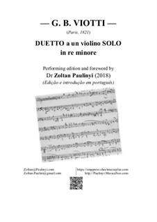 Duetto a un violino solo: Duetto a un violino solo by Giovanni Battista Viotti