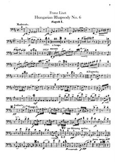No.9 in E Flat Major, for Orchestra, S.359/6: fagotes partes I-II by Franz Liszt