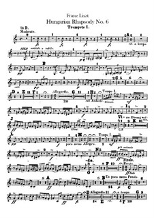 No.9 in E Flat Major, for Orchestra, S.359/6: trompeta partes I-II by Franz Liszt