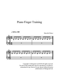 Exercícios para desenvolver dedos rápidos no piano: Exercícios para desenvolver dedos rápidos no piano by Marcello Palace