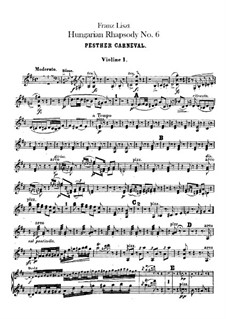 No.9 in E Flat Major, for Orchestra, S.359/6: Violinos partes I-II by Franz Liszt