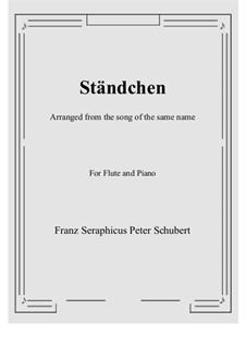 No.4 Ständchen (Serenade): para flauta e piano by Franz Schubert