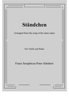 No.4 Ständchen (Serenade): para violino by Franz Schubert