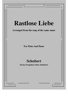 Rastlose Liebe (Restless Love), D.138 Op.5 No.1: para flauta e piano by Franz Schubert