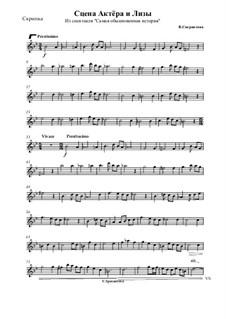 Сцена Актёра и Лизы: Партия скрипки by Valentina Sperantova