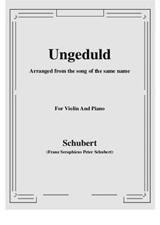 No.7 Ungeduld (Impatience): para violino by Franz Schubert