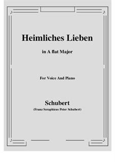 Heimliches Lieben (Secret Love), D.922 Op.106 No.1: A flat Major by Franz Schubert