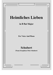 Heimliches Lieben (Secret Love), D.922 Op.106 No.1: B flat Maior by Franz Schubert