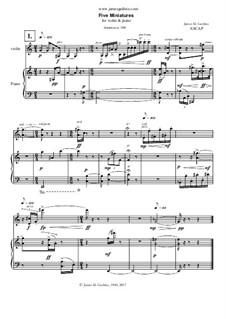 Five Miniatures for Violin & Piano, S0.233157: Five Miniatures for Violin & Piano by James Guthrie