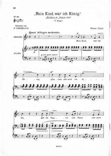 Enfant, si j'etais roi, S.283: F Maior by Franz Liszt