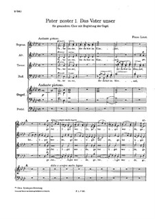 Pater noster I, S.29: Pater noster I by Franz Liszt