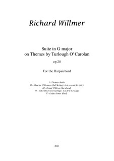 Suite in G on themes by Carolan, Op.28: Suite in G on themes by Carolan by Turlough O'Carolan, Richard Willmer