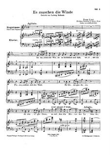 Es rauschen die Winde, S.294: Frühere Fassung by Franz Liszt