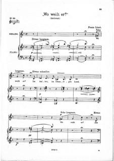 Wo weilt er, S.295: F-Dur by Franz Liszt