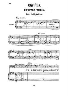 Christus, S.3: ato II, para solista,coral e piano by Franz Liszt
