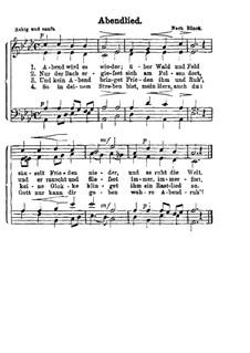 Abendlied: Für gemischten Chor by Christian Heinrich Rinck
