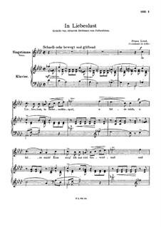 In Liebeslust, S.318: Klavierauszug mit Singstimmen by Franz Liszt