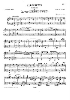 Allegretto in C Minor, WoO 53: Para Piano by Ludwig van Beethoven