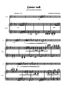 Gnome walk: para flauta e piano by Vladimir Solonskiy