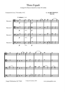 Three Equale, WoO 30: For Bassoon Quartet by Ludwig van Beethoven