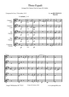 Three Equale, WoO 30: For Clarinet Choir by Ludwig van Beethoven