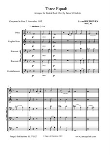 Three Equale, WoO 30: For Double Reed Choir by Ludwig van Beethoven