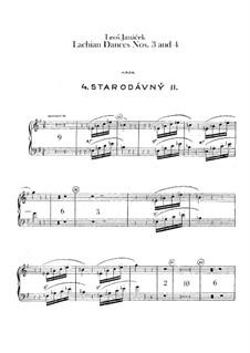 Lašské tance (Lachian Dances), JW 6/17: Dances No.3-4 – harp part by Leoš Janáček