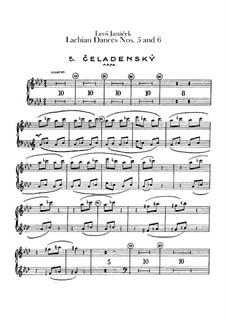 Lašské tance (Lachian Dances), JW 6/17: Dances No.5-6 – harp part by Leoš Janáček