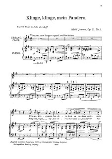Seven Songs for Voice and Piano, Op.21: No.1 Ring and Jingle, My Pandero by Adolf Jensen