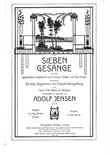 Seven Songs for Voice and Piano, Op.21: todas as musicas by Adolf Jensen