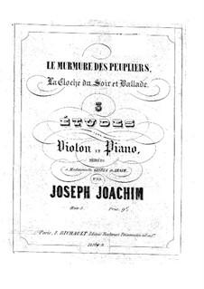 Three Pieces for Violin and Piano, Op.5: Parte de solo by Joseph Joachim