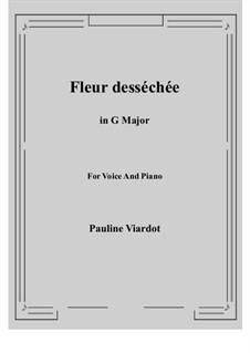 Fleur desséchée: G maior by Pauline Viardot