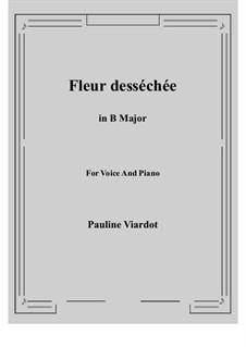 Fleur desséchée: B Major by Pauline Viardot
