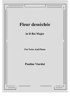 Fleur desséchée: D flat Major by Pauline Viardot