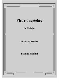 Fleur desséchée: F Maior by Pauline Viardot