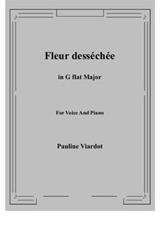 Fleur desséchée: G flat Major by Pauline Viardot