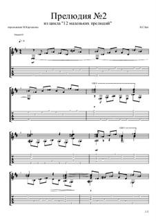 Twelve Little Preludes: Prelude No.2, for guitar by Johann Sebastian Bach