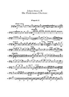 Die Fledermaus (The Bat): Abertura - parte fagotes by Johann Strauss (Sohn)