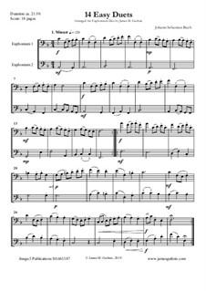 14 Easy Duets: For Euphoniums by Johann Sebastian Bach