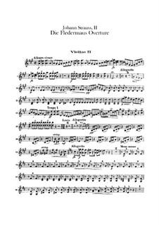 Die Fledermaus (The Bat): abertura - violinos parte II by Johann Strauss (Sohn)