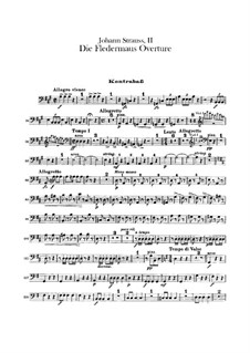 Die Fledermaus (The Bat): abertura - para contrabaixo by Johann Strauss (Sohn)