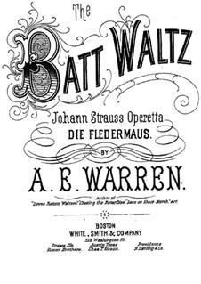 Die Fledermaus (The Bat): valsa, para piano by Johann Strauss (Sohn)