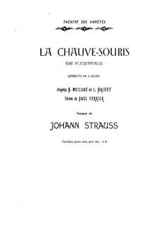 Die Fledermaus (The Bat): partitura para piano by Johann Strauss (Sohn)