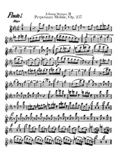 Perpetuum Mobile, Op.257: parte de flautas by Johann Strauss (Sohn)