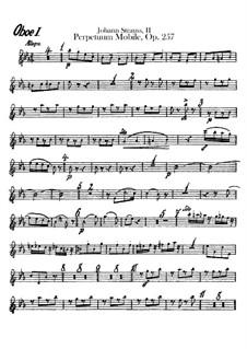 Perpetuum Mobile, Op.257: parte de oboes by Johann Strauss (Sohn)