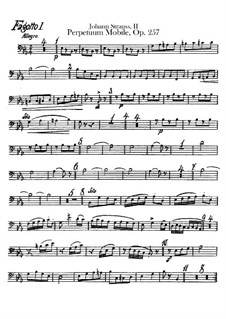 Perpetuum Mobile, Op.257: parte fagotes by Johann Strauss (Sohn)