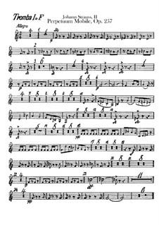 Perpetuum Mobile, Op.257: parte trompetas by Johann Strauss (Sohn)