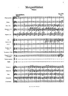 Morning Journals, Op.279: Partitura completa by Johann Strauss (Sohn)
