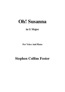 Oh! Susanna: G maior by Stephen Collins Foster